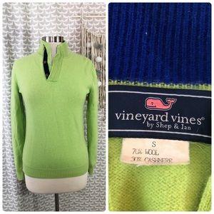 Vineyard Vines Green Wool Cashmere Blend Sweater